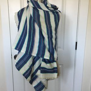 Arie cotton 'Indian-inspired' striped wrap
